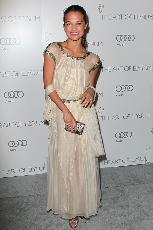 Alicia Vikander at The Art of Elysium's Sixth Annual Black Tie Gala, January 2013