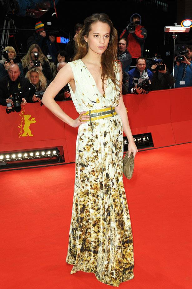 Alicia Vikander at the closing ceremony during the 62nd Berlinale International Film Festival, February 2012