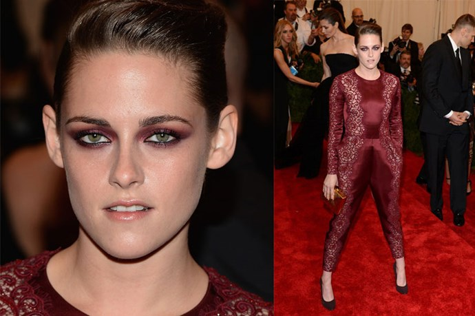<strong>Kristen Stewart</strong> <br><br> Kristen embraced the 'Punk: Chaos To Couture' theme of the 2013 Met Gala.