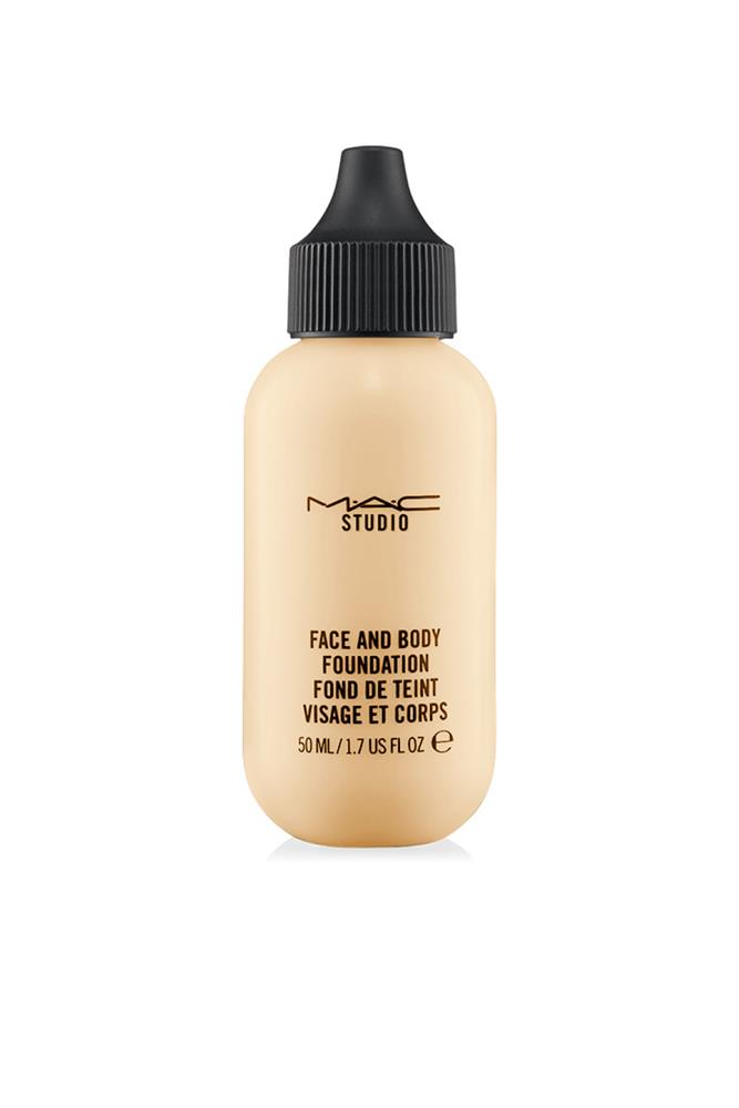 "<strong><a href=""http://www.maccosmetics.com.au/"">Studio Face And Body Foundation, $49 for 50ml, M.A.C</a></strong><br> Not only has this been editor-in-chief Justine Cullen's go-to for years, it's the only beauty product she'll finish each and every time."