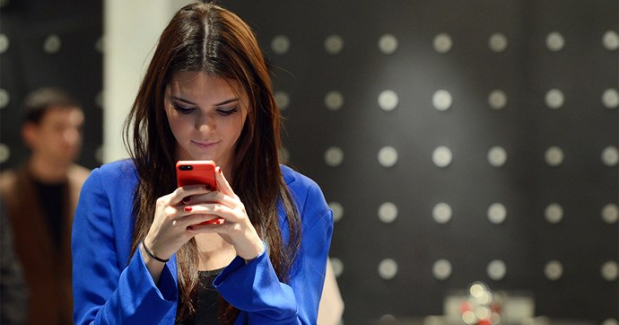 Kendall Jenner on phone
