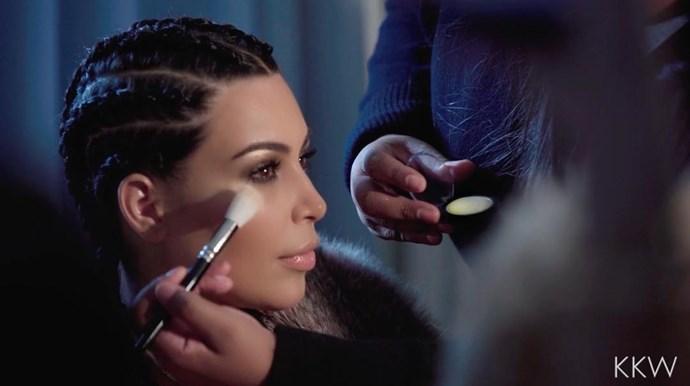 Kim Kardashian highlighter.