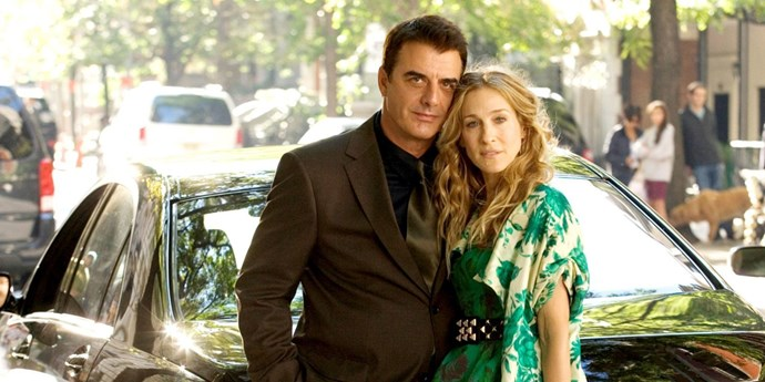 Carrie Bradshaw and Mr Big on Sex and the City.