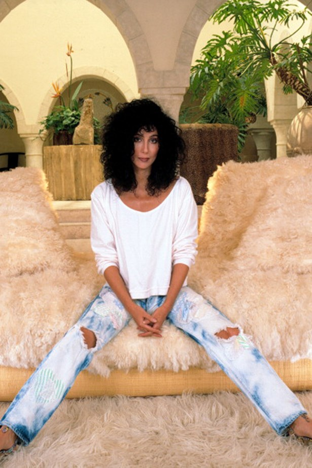 "<strong>Cher</strong><br> ""I would LOVE to look like this in a pair of jeans. Cool, effortless and sexy. Dreaming of those jeans on Cher!"" —Rachel Wayman, fashion director"