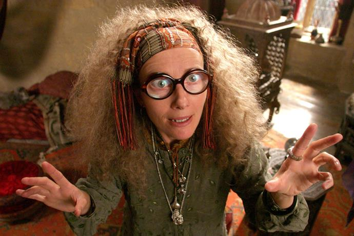 <p> <strong>Professor Trelawney </strong><p> <p> Her Inner Eye has dished out only about two real predictions – but both have been so important in the <em>Harry Potter</em> series that without her, the whole Voldemort-versus-The-Boy-Who-Lived thing wouldn't have even happened.