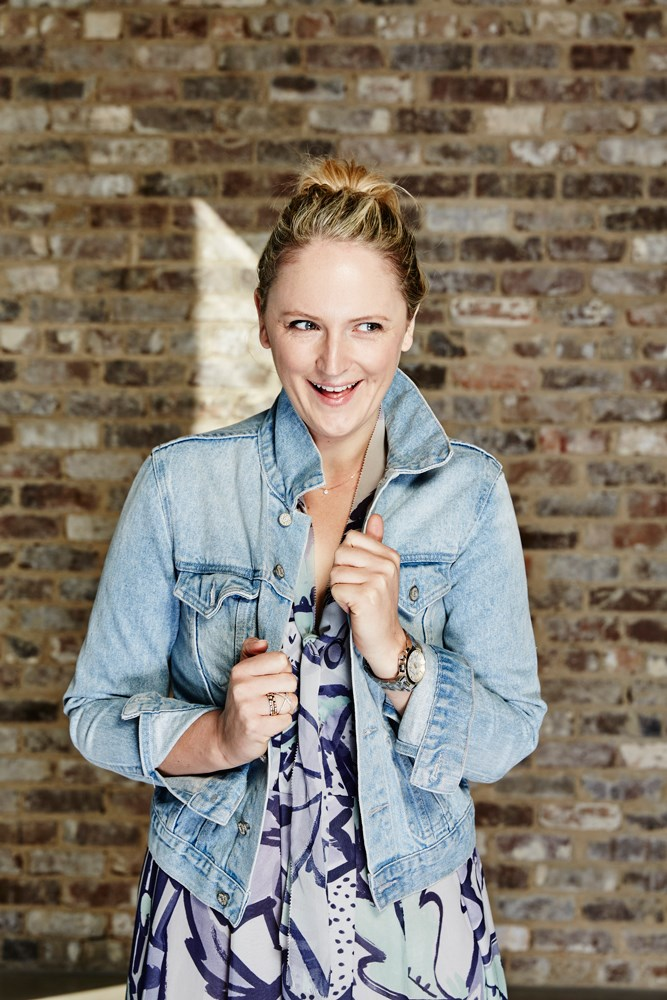 "<strong>Brooke Bickmore, workflow director</strong><br> <em>Boyfriend denim jacket by Atmos&Here</em><br> ""A denim jacket is the most versatile piece on the planet. Mine gets dragged to work, away on trips, thrown over my gym kit, layered over cocktail dresses – and sometimes all in one day."""