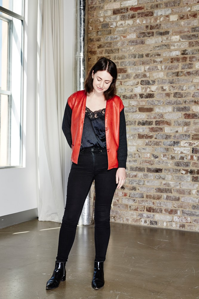 "<strong>Elle McClure, digital producer</strong> <em>Black skinny jeans by Acne Studios </em> ""If you didn't already know, <a href=""http://www.elle.com.au/news/fashion-news/2016/3/skinny-jeans-still-most-popular-style/"">skinny jeans are still unequivocally the most popular style of denim</a>, despite many attempts by Levi's 501s (the skinny's cool older sister) to regain the title of 'favourite'. I usually pair mine with a tee and longline boyfriend blazer, then add a belt and a pair of boots."""
