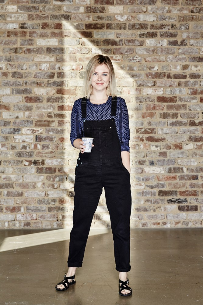 "<strong>Laura Collins, features and culture editor </strong><br><em>Black denim overalls</em><br> ""Comfortable and cool (I think?), my black denim overalls toe the fine line between fashion and preschool teacher. Today I've managed to keep them 'fashion', but a few of my friends could vouch for the fact that I haven't always been so successful."""