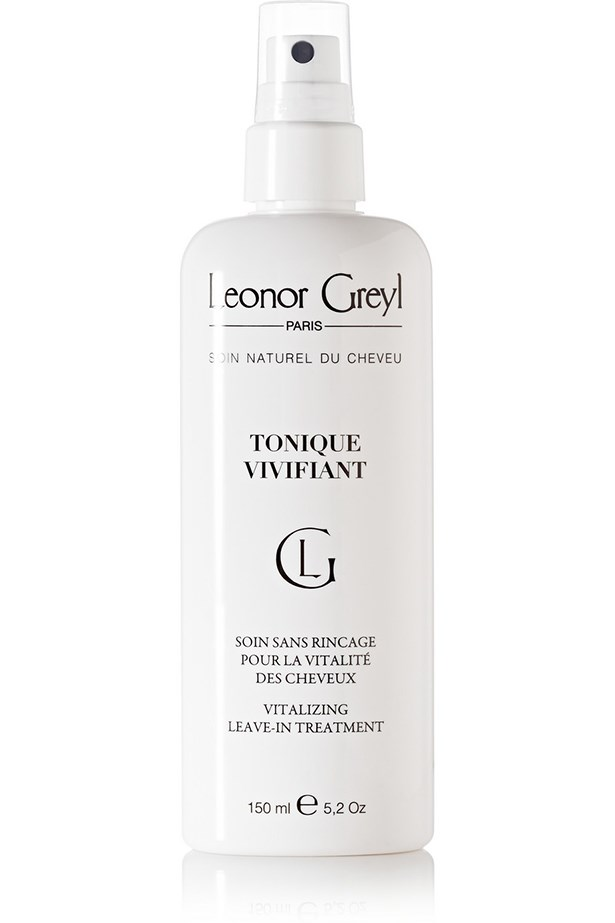 Model Kate Upton credits Leonor Greyl's products with completely changing her hair texture. Enriched with amino acids and botanical extracts, the brand's Tonique Vivifiant leave-in spray strengthens and softens all whilst stimulating your tresses' tissue regeneration. <br><br> <em>Tonique Vivifiant Vitalizing Leave-In Treatment, $82, Leonor Greyl, net-a-porter.com/au </em>