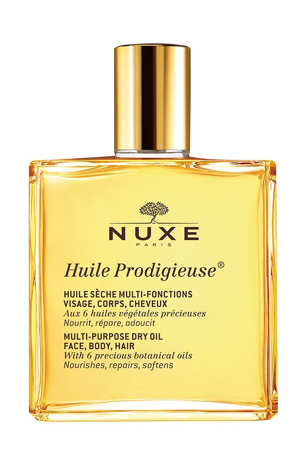 Nuxe's products are the secret behind some of Hollywood's most lustrous locks and glowing complexions – Jennifer Aniston, Scarlett Johansson and Eva Mendes are all fans of the brand. This multi-purpose oil is one of Nuxe's biggest all-stars – use it to leave skin smooth and silky, or to add some serious shine to your strands. <br><br> <em>Huile Prodigieuse, $26.99 for 50ml, Nuxe, 03 9527 2886 </em>