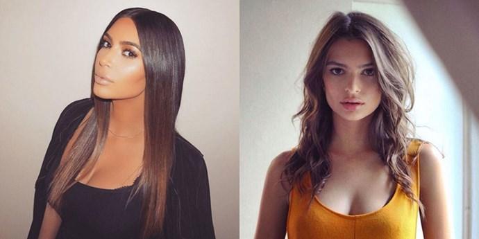 Kim Kardashian and Emily Ratajkowski.