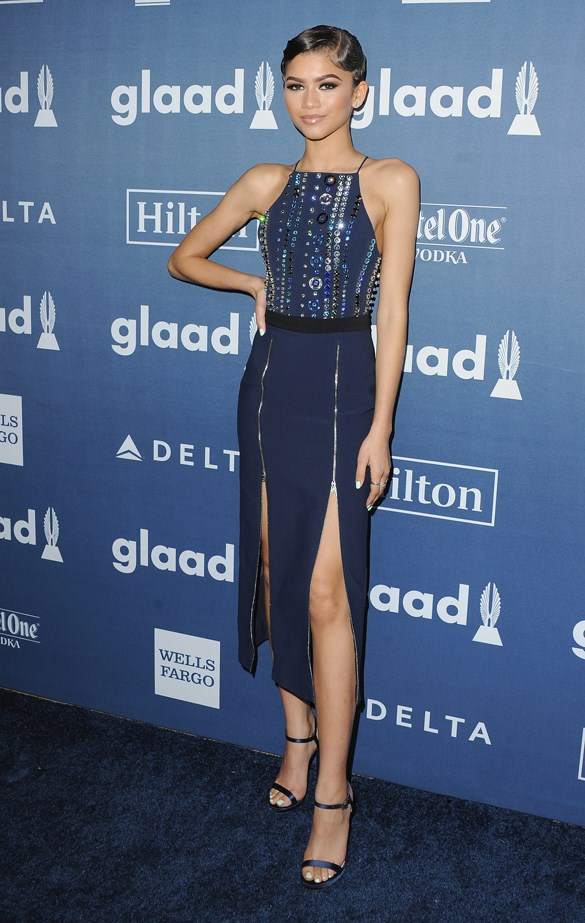 Zendaya Coleman at the 2016 GLAAD Awards.