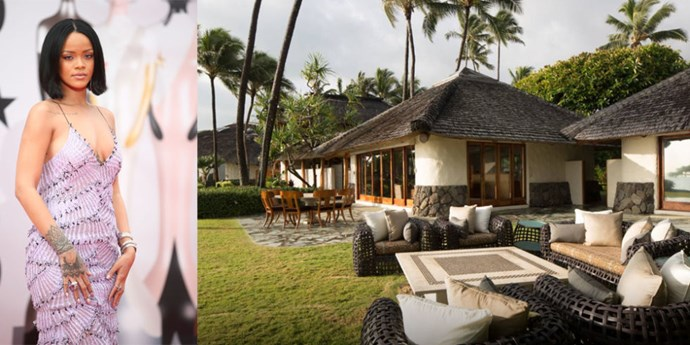 "<p> Kailua, Hawaii.<p> <p> Leave it to Rihanna to find a lush Hawaiian getaway like this one.  The <a href=""https://www.airbnb.com/rooms/8311979"">Paul Mitchell estate</a> features a waterfall, stone fire pit, secluded beach cove, and – wait for it – Japanese bath house complete with a sauna and meditation pond."