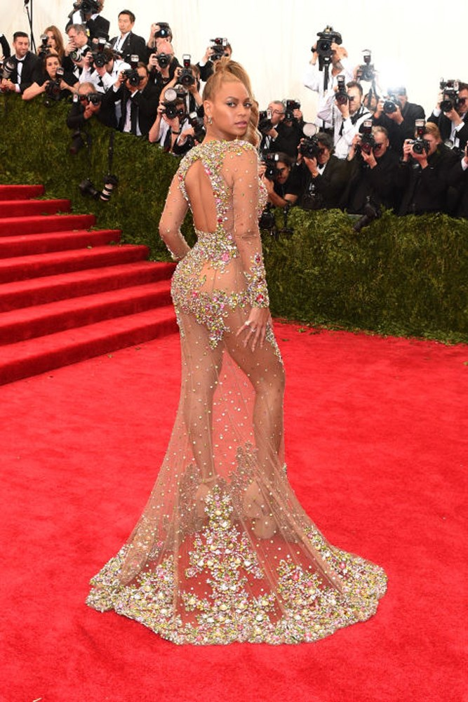 The iconic sheer dress from the Met Gala in 2015 left many a jaw on the floor when she stepped onto the red carpet.