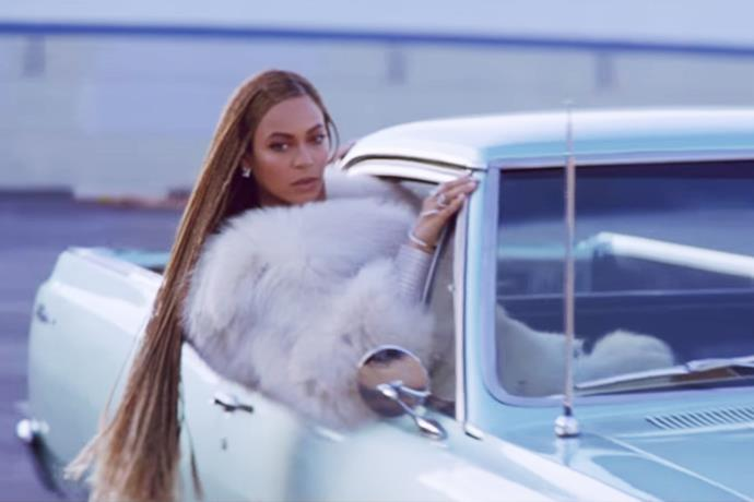 And all this has brought us to this hanging-out-of-a-lowrider moment that gave us butterflies. Waist-length hair, Fendi fur, and a stare that burned through your irises.