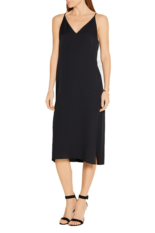 "<a href=""https://www.net-a-porter.com/au/en/product/651509/Theory/silk-satin-dress"">Theory Silk-satin dress</a>, $401 AUD."