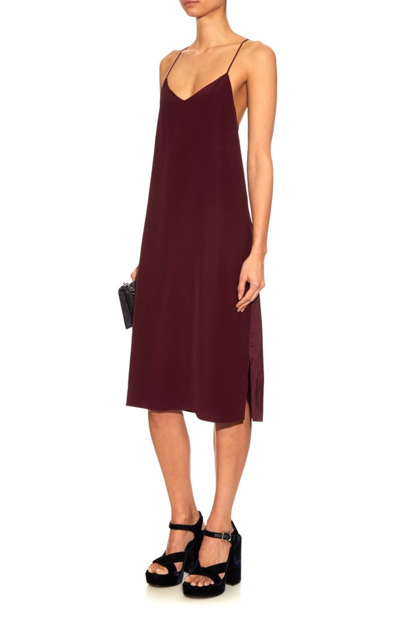"<a href=""http://www.matchesfashion.com/au/products/Tibi-V-neck-crepe-slip-dress-1027863"">Tibi v-neck crepe slip dress</a>, $601 AUD."