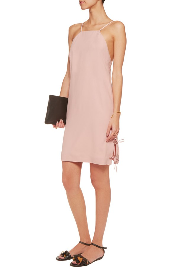"<a href=""https://www.theoutnet.com/en-AU/product/MSGM/Crepe-mini-dress/697903"">MSGM crepe mini dress</a>, $161 AUD."