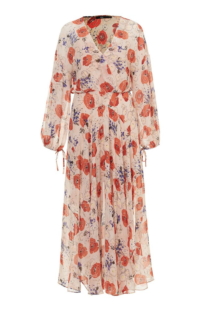 "<a href=""http://www.sportsgirl.com.au/new-in/clothing/hanky-hem-midi-dress-print"">Dress, $129.95, Sportsgirl</a>"