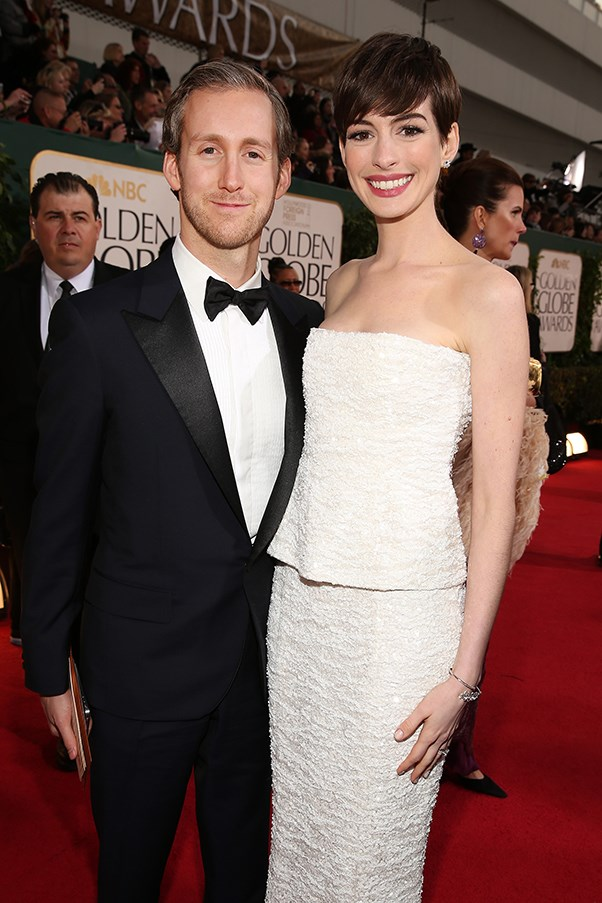 Anne Hathaway and Adam Shulman.