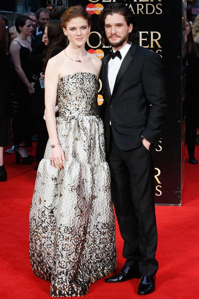 """Rose Leslie (here with <a href=""""http://www.elle.com.au/news/celebrity-news/2016/4/kit-harington-and-rose-leslie-confirm-their-relationship/"""">new boo Kit Harrington</a>)."""