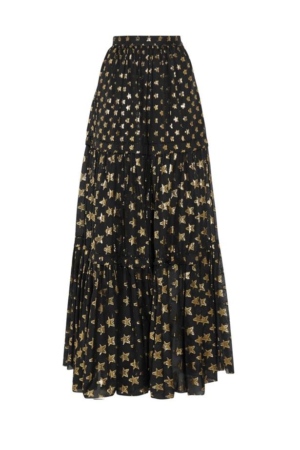 "<a href=""https://www.net-a-porter.com/au/en/product/679732/Temperley_London/peggy-metallic-fil-coupe-maxi-skirt"">Peggy metallic fil coupé maxi skirt, $2024, Temperley London at net-a-porter.com</a>"