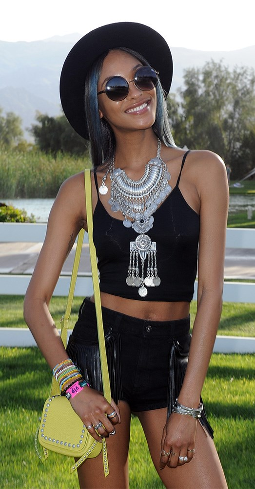 Jourdan Dunn looking sleek at Soho's desert house in Coachella Valley, 2015