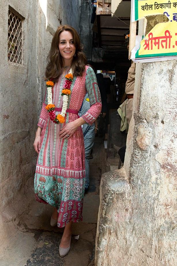 Kate Middleton in India 2016.