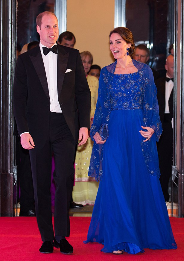 And for her second favourite designer, Kate brought her along, too. Wearing Jenny Packham (designer of both her 'hospital dresses' plus countless others), Kate went for a Bollywood-inspired design.