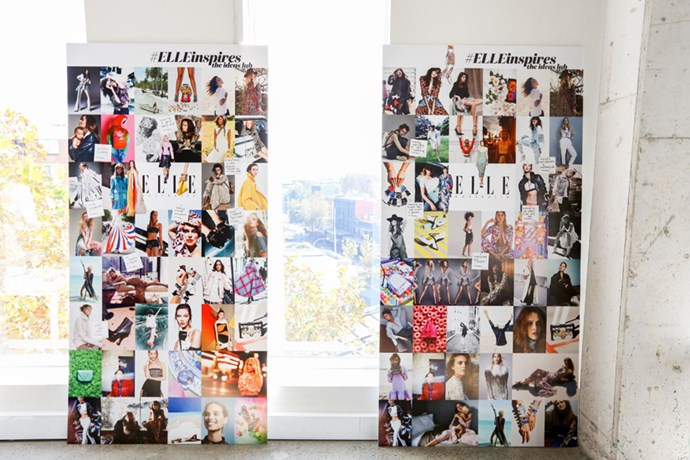 Our moodboards at the event, ready to get some of the crowd's creative ideas pinned onto them!