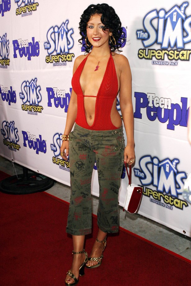Bodysuits and cropped cargos were IT. X-Tina said so.