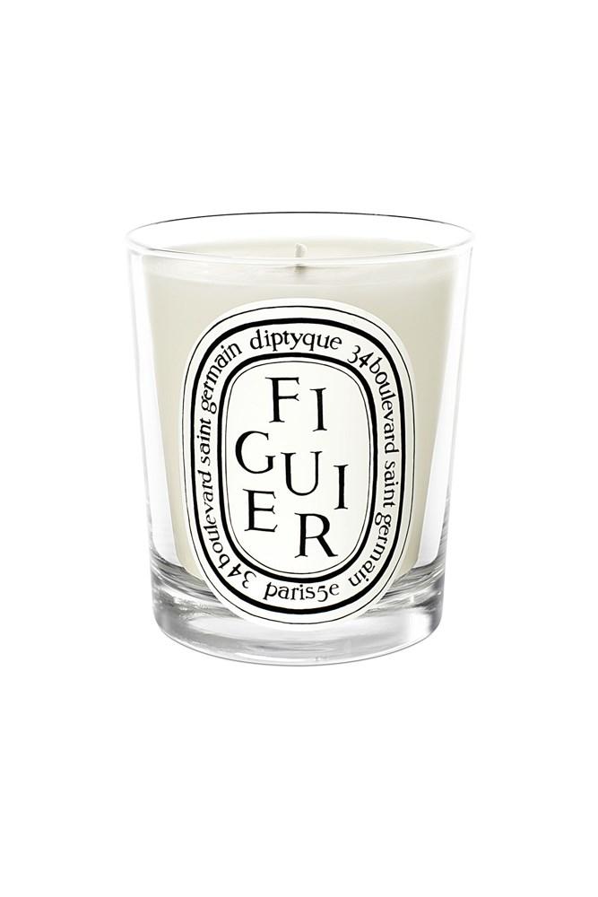 """<a href=""""http://mecca.com.au/diptyque/figuier-candle/V-008666.html"""">Figuier Candle, $87, Diptyque at mecca.com.au</a><br><br> <em>Notes: Fig.</em>"""