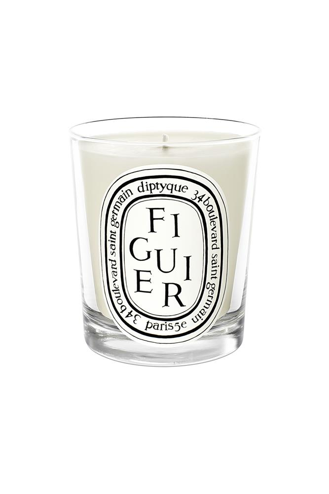 "<a href=""http://mecca.com.au/diptyque/figuier-candle/V-008666.html"">Figuier Candle, $87, Diptyque at mecca.com.au</a><br><br> <em>Notes: Fig.</em>"