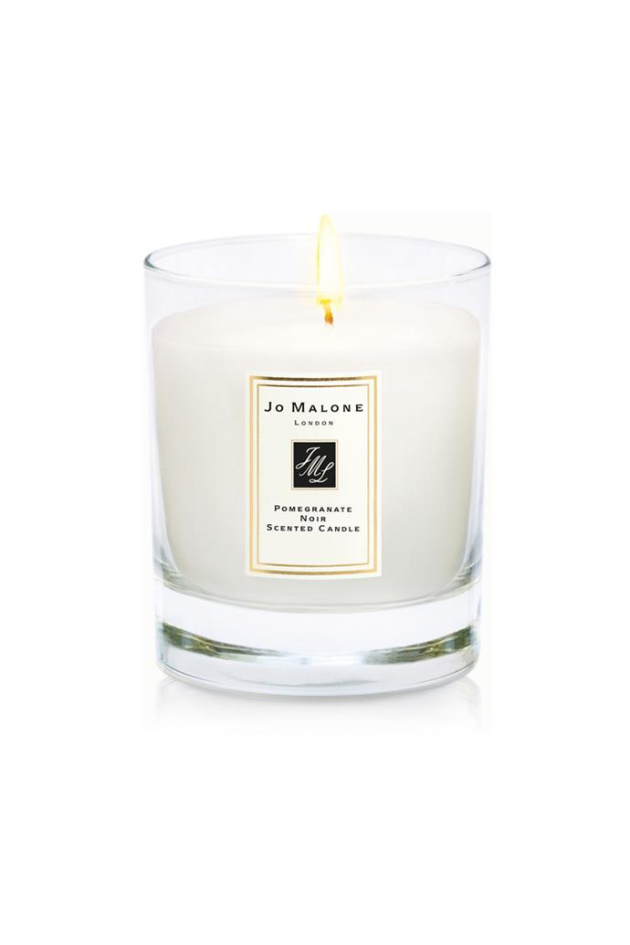 "<a href=""http://shop.davidjones.com.au/djs/en/davidjones/pomegranate-noir-home-candle"">Pomegranate Noir Home Candle, $85, Jo Malone London at davidjones.com.au</a><br><br> Notes: Pomegranate, Raspberry, Pum, Pink Pepper, Casablanca Lily, Spicy Woods."