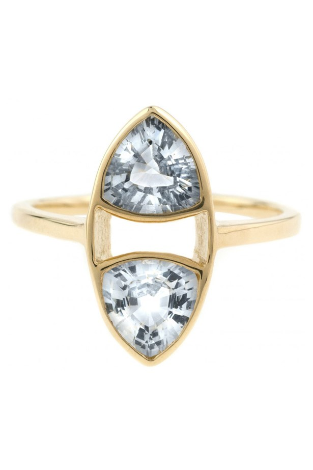 "<a href=""http://bario-neal.com/jewelry/engagement-rings/trillion-ring"">Bario Neal Trillion Ring</a>, $4,170 AUD."