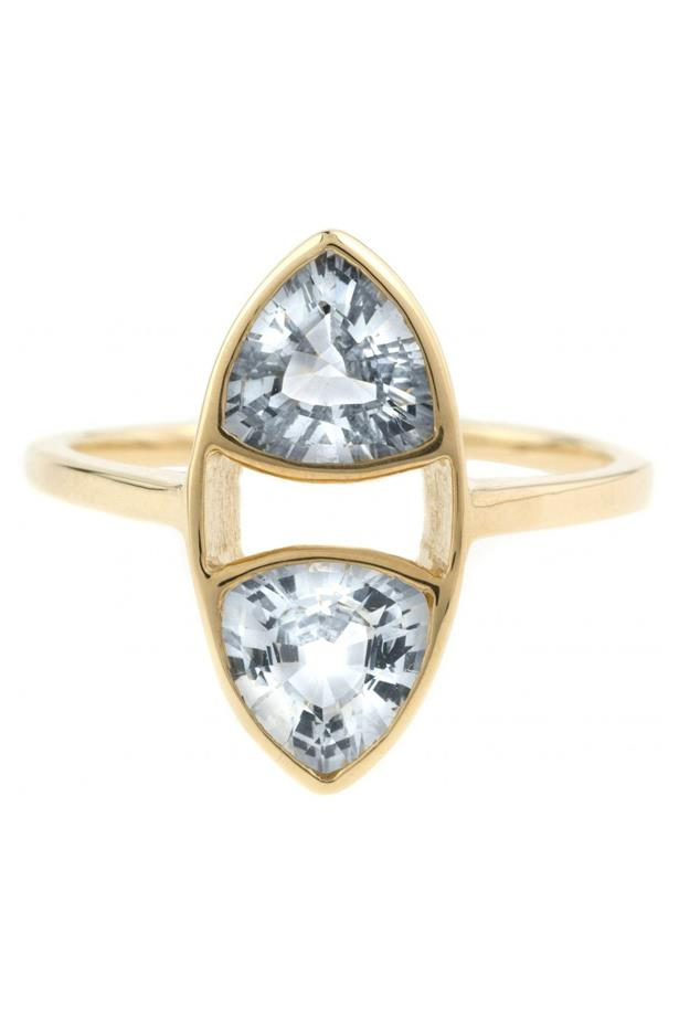 """<a href=""""http://bario-neal.com/jewelry/engagement-rings/trillion-ring"""">Bario Neal Trillion Ring</a>, $4,170 AUD."""