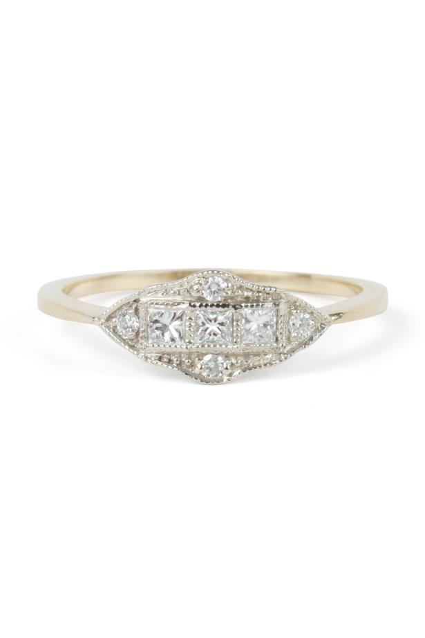 "<a href=""https://www.catbirdnyc.com/jewelry/rings/machine-age-ring.html"">Erica Weiner 'Machine Age' Ring via Catbird</a>, $1,920 AUD."