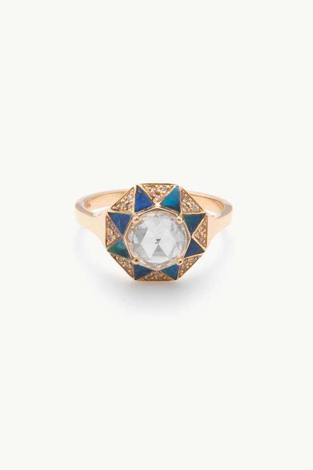 """<a href=""""http://dreamcollective.com/collections/kathryn-bentley/products/octagon-ring"""">Kathryn Bentley Octagon Ring</a>, $11,820 AUD."""