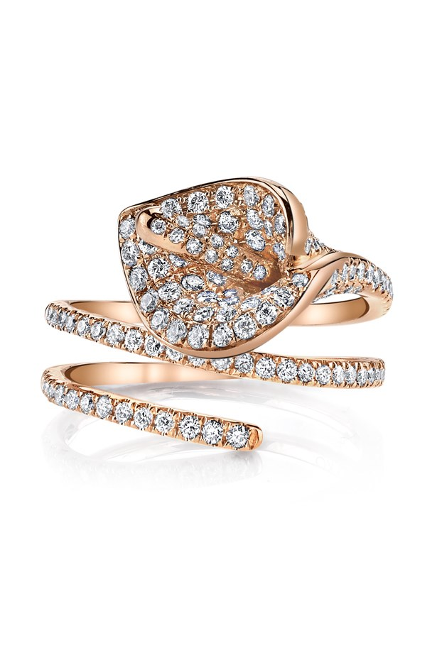 """<a href=""""http://anitako.com/collections/rings/products/calla-lily-coil-ring"""">Anita Ko Calla Lily Coil Ring</a>, $5,650 AUD."""
