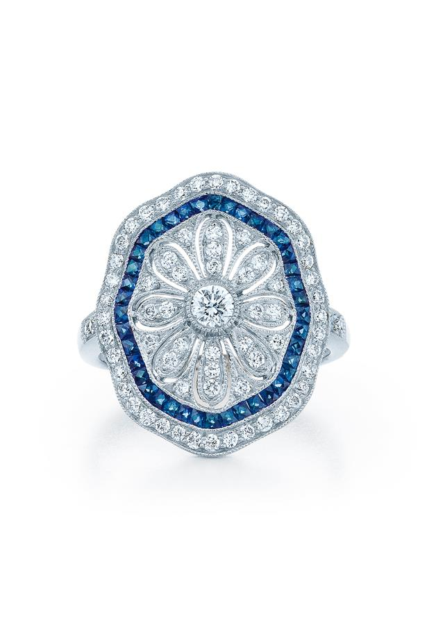 """<a href=""""https://kwiat.com/product/rings/3332/"""">Kwait Vintage Ring</a>, $7,450 AUD."""