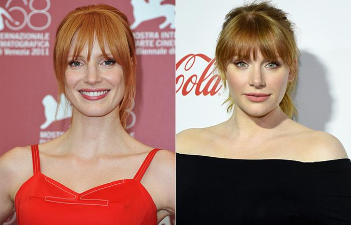 Jessica Chastain and Bryce Dallas Howard.