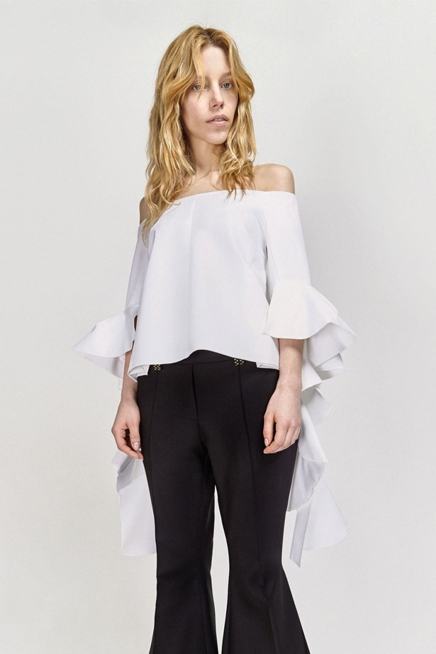 "<a href=""http://www.elleryland.com/au/spring-2016/tops/delores-top"">Delores Top, $690, Ellery at elleryland.com</a>"