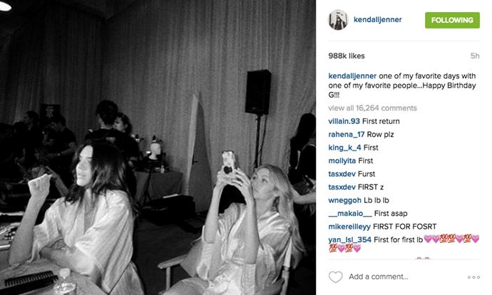 """one of my favorite days with one of my favorite people...Happy Birthday G!!!"" <br><br> Instagram: <a href=""https://www.instagram.com/p/BEjLNKaDo76/?taken-by=kendalljenner"">@kendalljenner</a>"