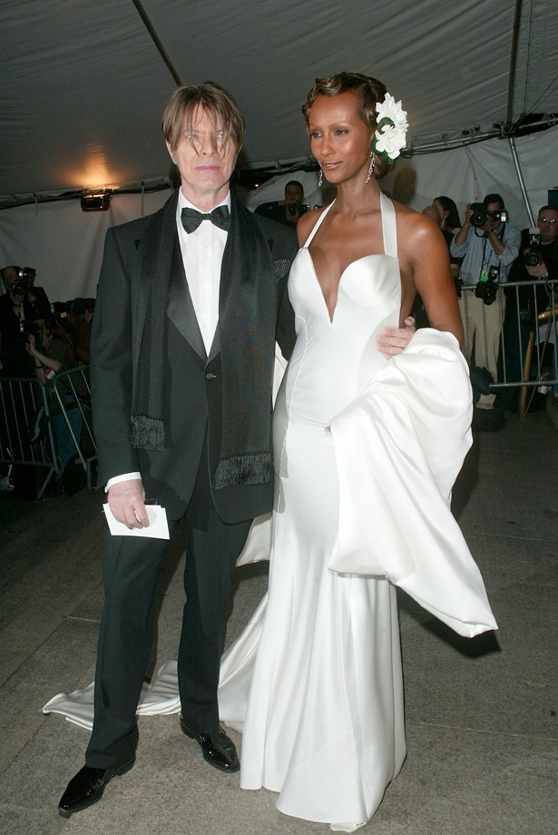 David Bowie and Iman, 2003.