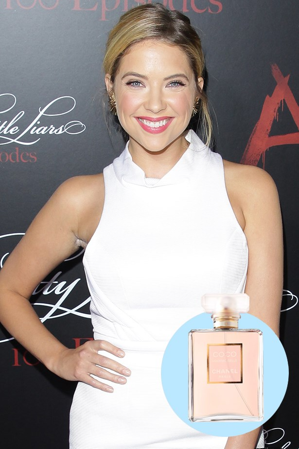 """<p> <strong>Ashley Benson</strong> <p> """"Every woman has her favourite Chanel fragrance. Mine is Coco Mademoiselle."""" <p> Coco Mademoiselle EDP, $234 for 100ml, Chanel, 02 9900 3087 <p>"""