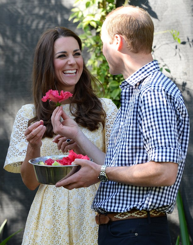 That time Wills gave Kate a flower and Kate was not buying it.