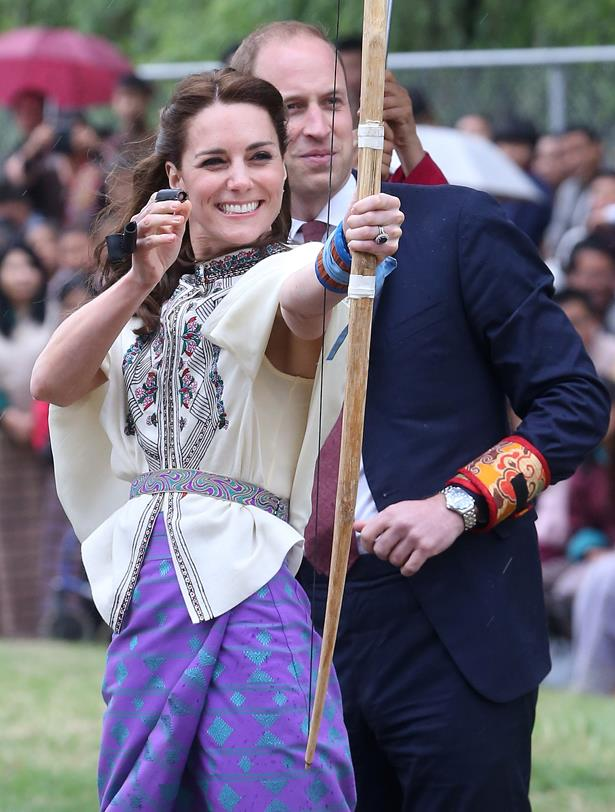 That time Kate Middleton transformed into Princess Katniss for a hot minute and William was 100% into it.