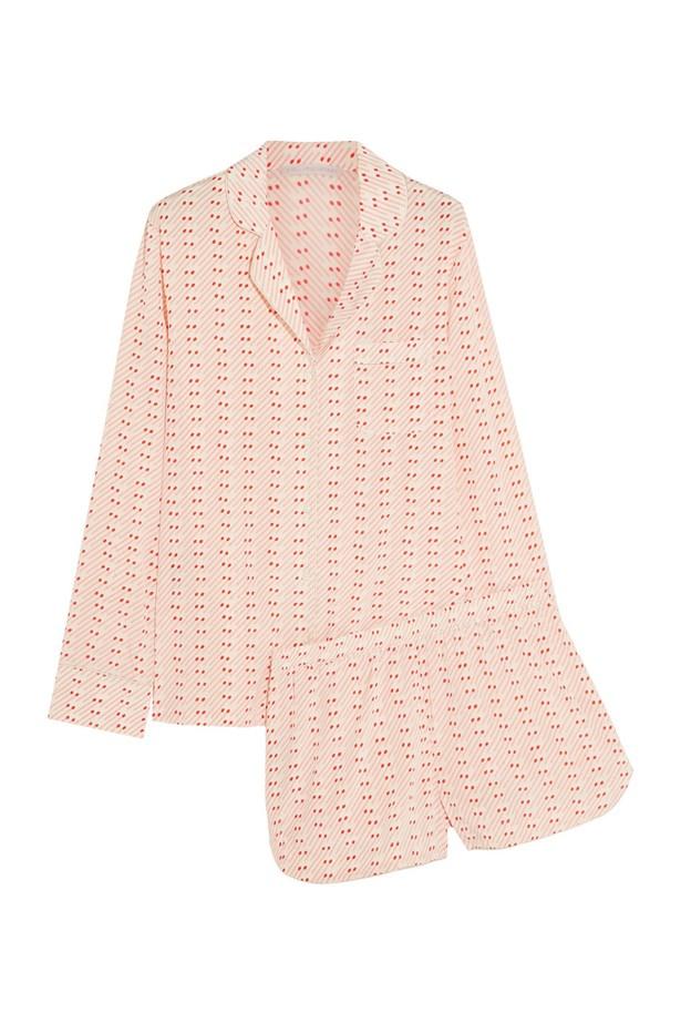 "<a href=""https://www.net-a-porter.com/au/en/product/631566/stella_mccartney/poppy-snoozing-printed-stretch-silk-crepe-de-chine-pajama-set"">Stella McCartney Poppy Snoozing printed stretch-silk crepe de chine pajama set</a>, $379."