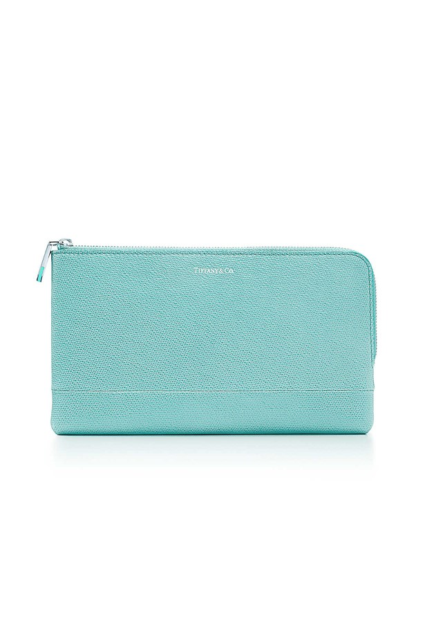 """<a href=""""http://www.tiffany.com.au/accessories/tiffany-leather-collection/zip-pouch-wallet-GRP07966?fromGrid=1&search_params=p+1-n+10000-c+288153-s+5-r+-t+-ni+1-x+-lr+-hr+-ri+-mi+-pp+2700+30&search=0&origin=browse&searchkeyword=&trackpdp=bg&fromcid=288153&trackgridpos=,"""">Tiffany and Co zip pouch wallet</a>, $745."""