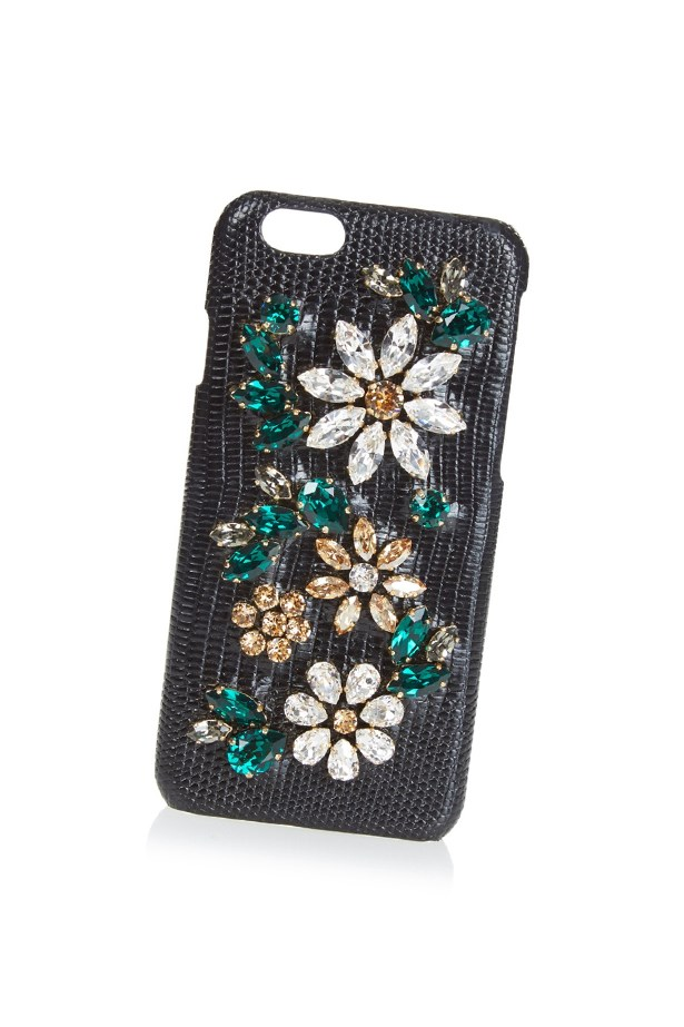 "<a href=""http://www.matchesfashion.com/au/products/Dolce-%26-Gabbana-Crystal-embellished-leather-iPhone%C2%AE-6-case-1033360"">Dolce and Gabbana crystal-embellished leather iPhone case</a>, $563."